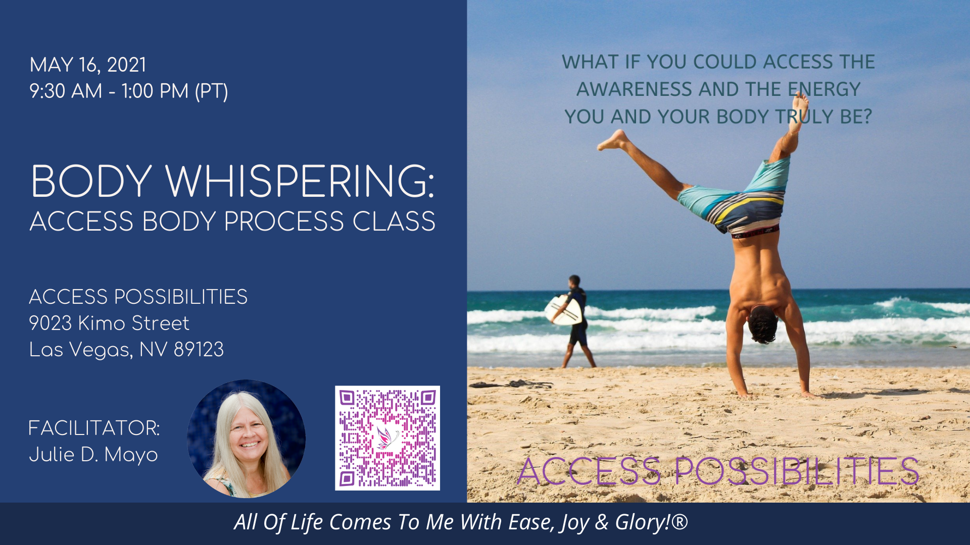 Access Body Process Live Class Details | May 16; 9:00 AM | Access Possibilities