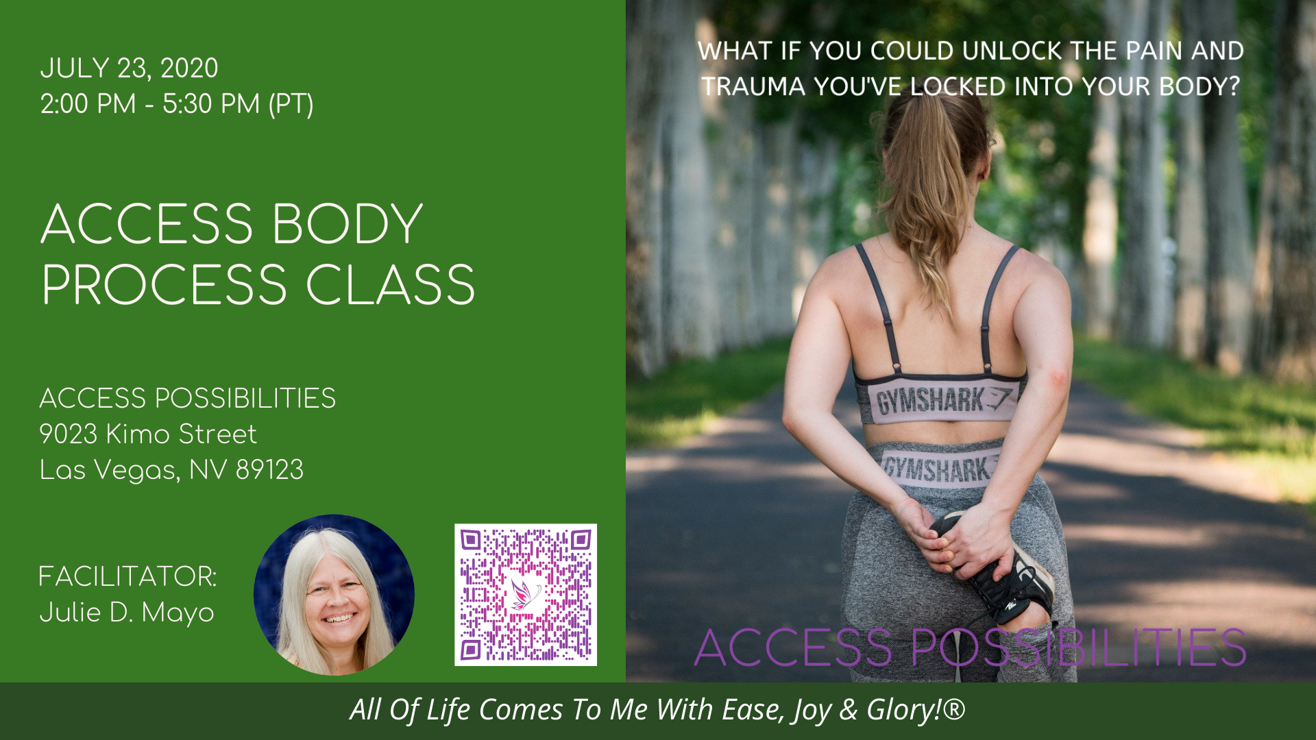 Access Body Process Class with Julie D. Mayo | Jul 23 PM | Access Possibilities