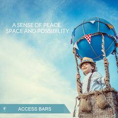Access Bars; A sense of ease, peace, space and possibility.