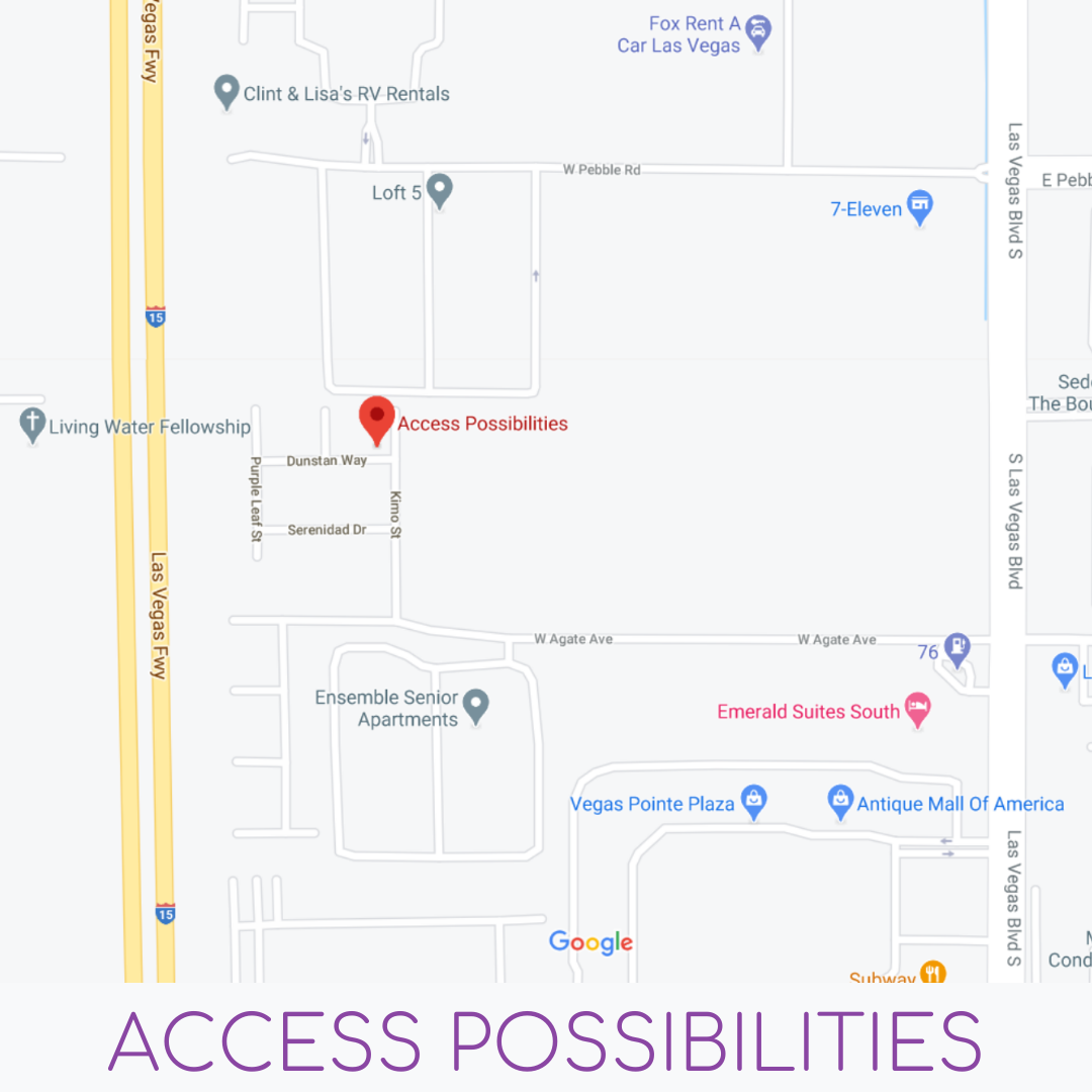 Access Possibilities Map | 9023 Kimo St Las Vegas NV 89123