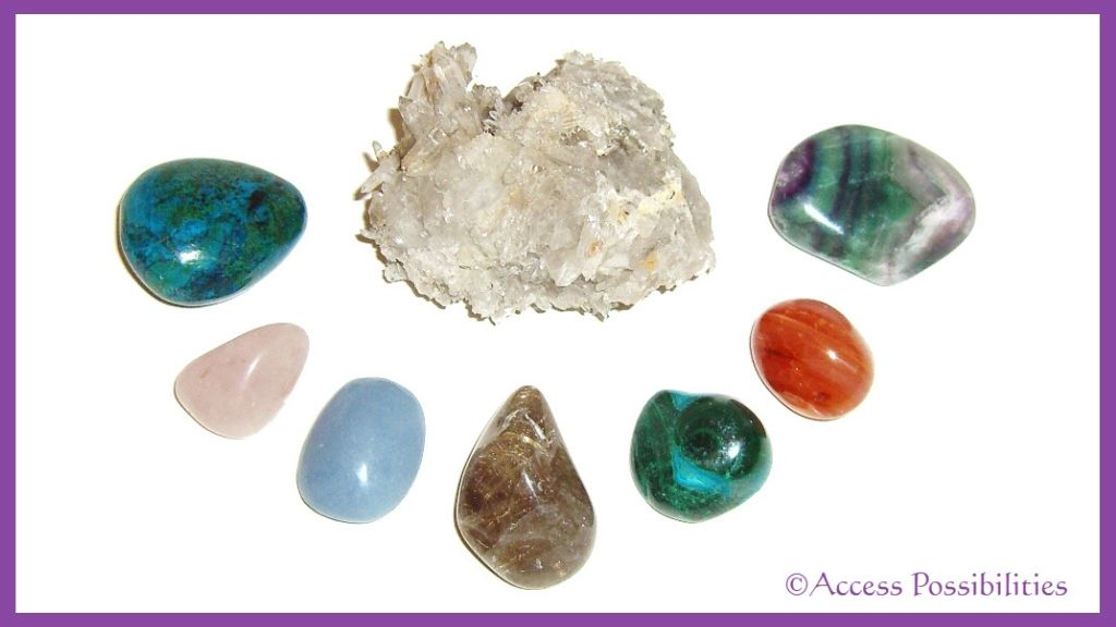 Lavender N Pearl Protective Healing Crystal Collection