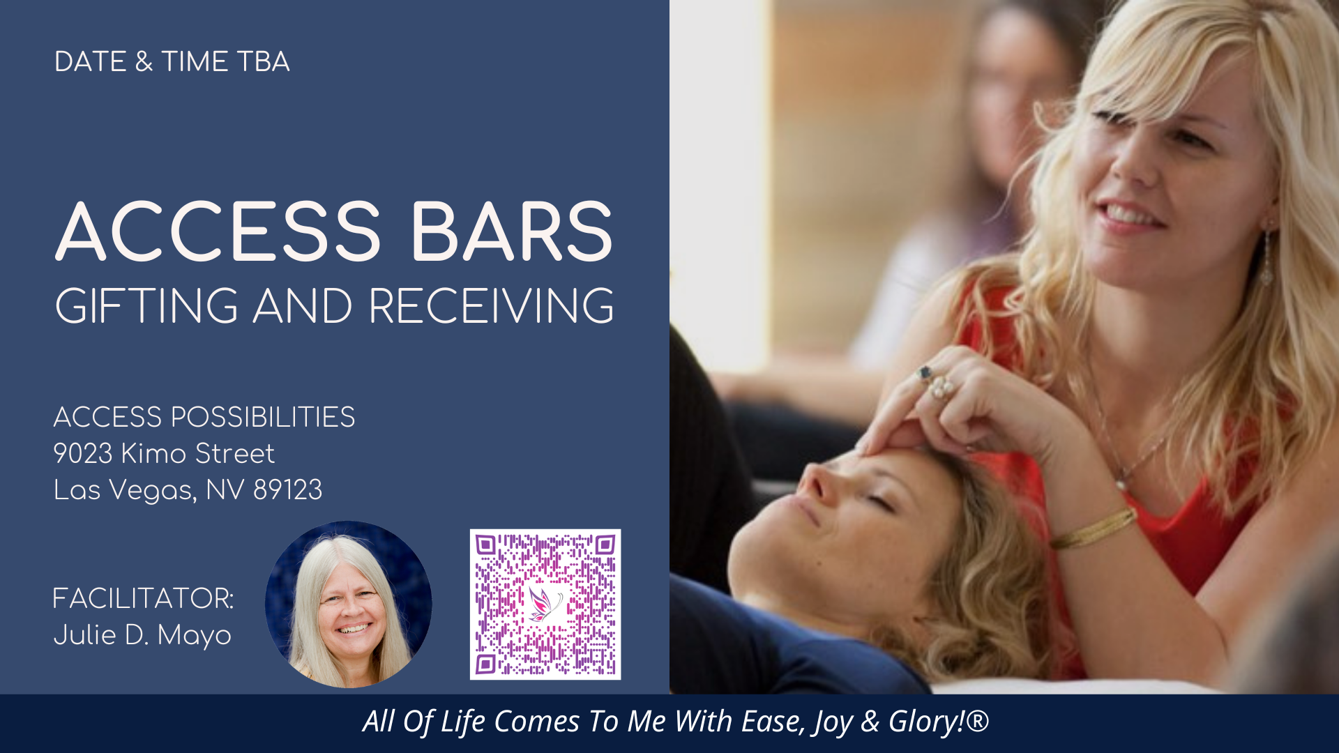 Access Bars Gifting And Receiving Event Details | Access Possibilities