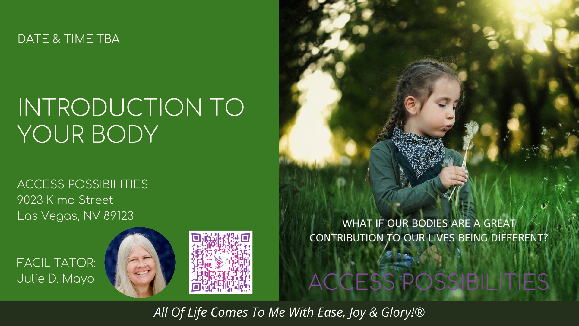 Introduction To Your Body Live Class Details   Access Possibilities