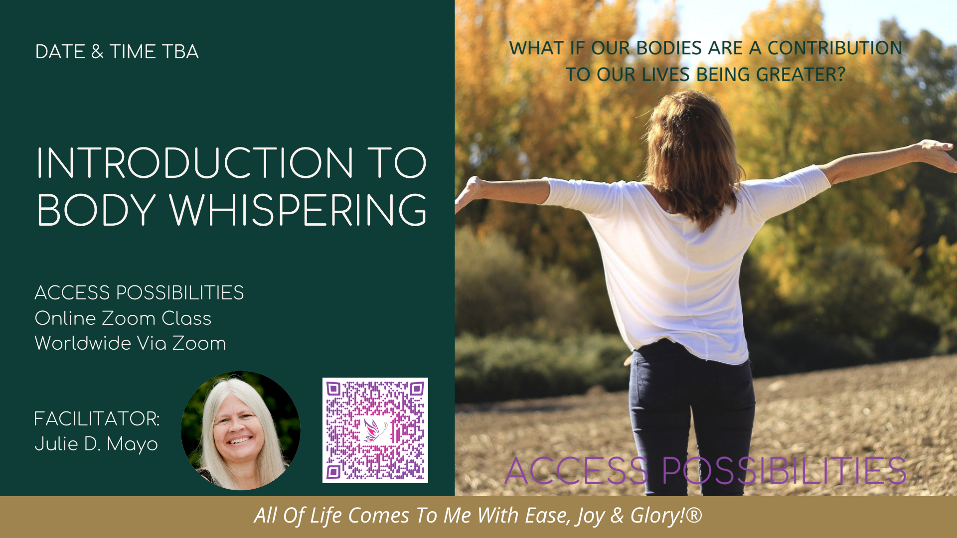 Introduction To Body Whispering Online Class Details   Access Possibilities