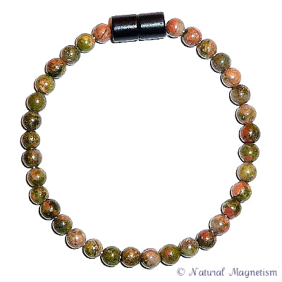 4mm Unakite Gemstone Bracelet