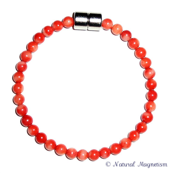 5mm Bamboo Coral Gemstone Bracelet