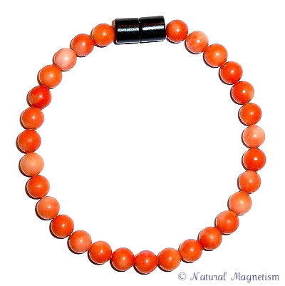 6mm Bamboo Coral Gemstone Anklet