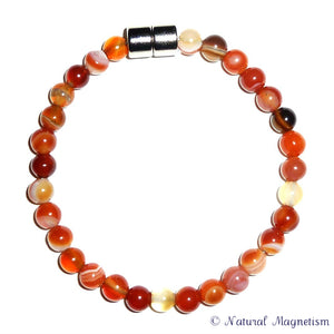 6mm Carnelian Gemstone Bracelet