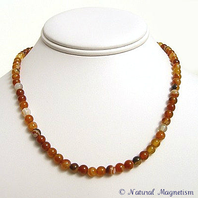 6mm Carnelian Gemstone Necklace