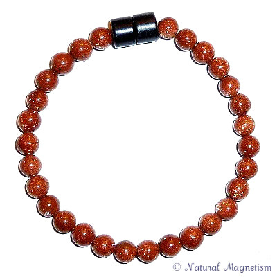 6mm Goldstone Gemstone Anklet