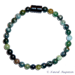 6mm Moss Agate Gemstone Anklet