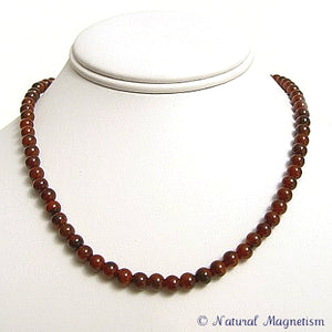6mm Agate Gemstone Necklace