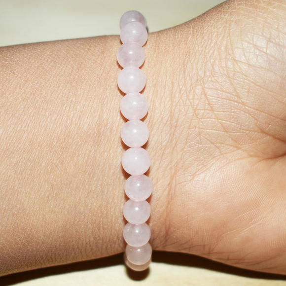 6mm Rose Quartz Gemstone Bracelet | Access Possibilities