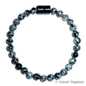 magnetism anklet natural products gemstone snowflake obsidian