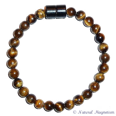6mm Tiger Eye Gemstone Anklet