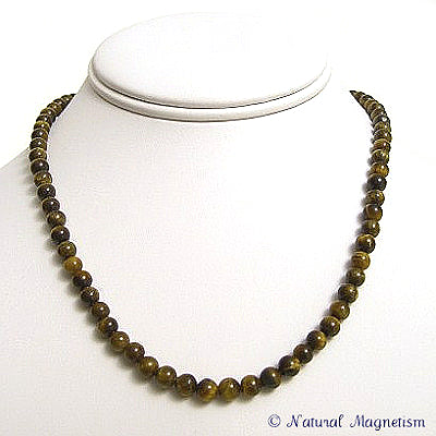 6mm Tiger Eye Gemstone Necklace