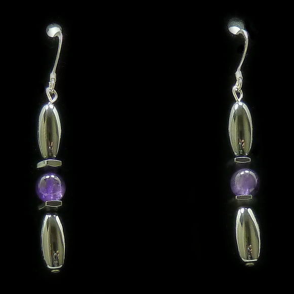 Amethyst Hex And Rice Magnetite Magnetic Earrings | Access Possibilities