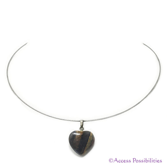 Tiger Eye Gemstone Heart Pendant Necklace AKA Tiger's Eye | Gemstone Jewelry | Access Possibilities