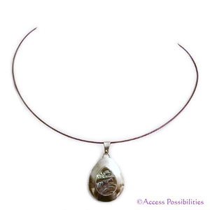 Native American Mother Of Pearl (Abalone) Inlay Pendant Necklace | Access Possibilities