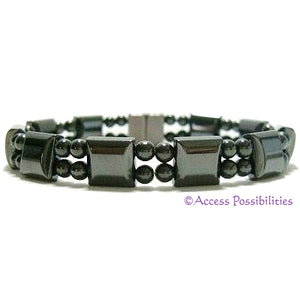 Square Double Magnetite Magnetic Bracelet | Magnetic Therapy | Access Possibilities