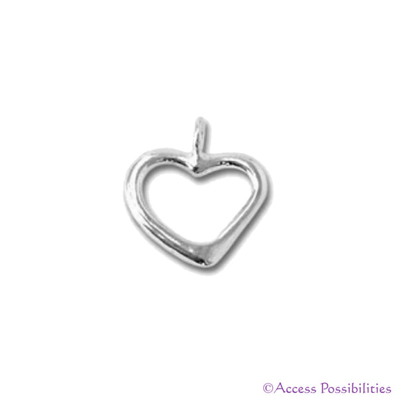 Sterling Silver Lariat Loop Heart Charm Pendant | Access Possibilities
