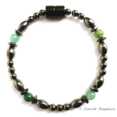 Aventurine Hex And Rice Magnetite Magnetic Bracelet