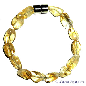 Citrine Gemstone Nugget Bracelet