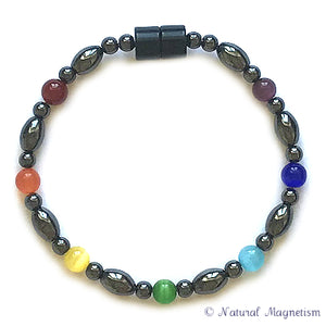 Chakra Cat Eye Magnetite Magnetic Bracelet