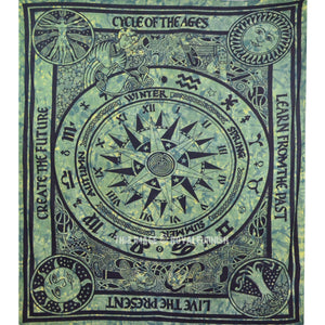 Cycle Of The Ages Tapestry - Green