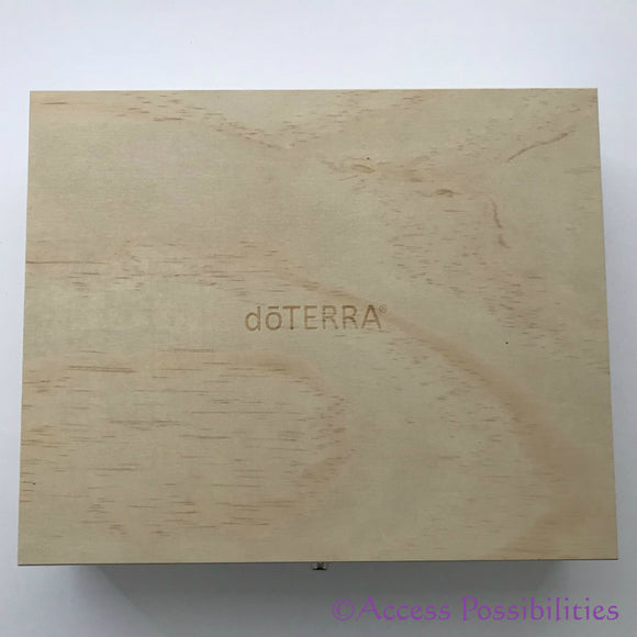 dōTERRA Logo Engraved Limited Edition Essential Oil Wooden Storage Box Exterior