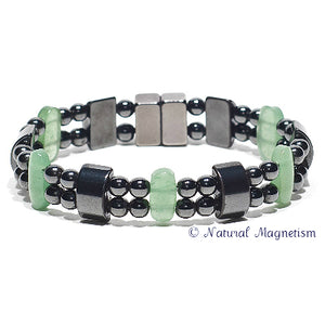 Aventurine Double Magnetite Magnetic Anklet