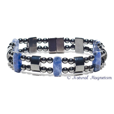 Sodalite Double Magnetite Magnetic Anklet