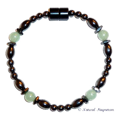 Serpentine Hex And Rice Magnetite Magnetic Anklet