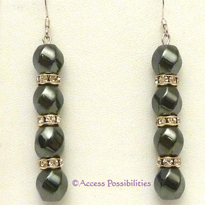 Gold Swarovski Crystal Magnetite Magnetic Earrings | Access Possibilities