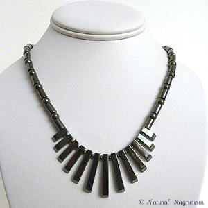 Hematite Gemstone Fan Magnetite Magnetic Necklace