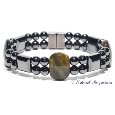 Blue Tiger Eye Double Magnetite Magnetic Anklet