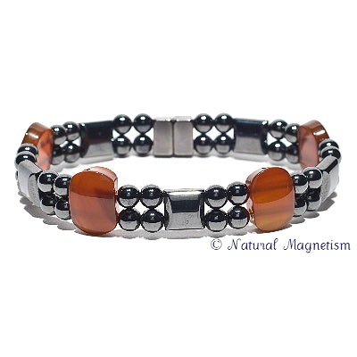 Carnelian Double Magnetite Magnetic Anklet