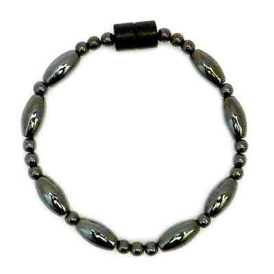 Large Rice And Round Magnetite Magnetic Anklet