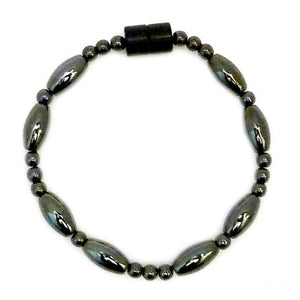 Large Rice And Round Magnetite Magnetic Bracelet