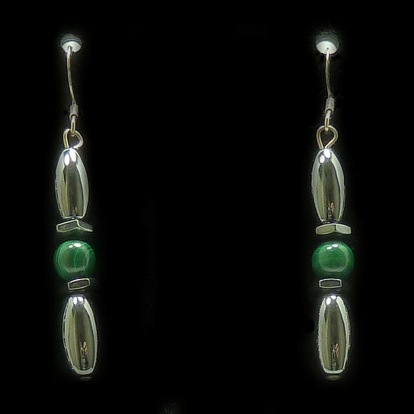 Malachite Hex And Rice Magnetite Magnetic Earrings | Access Possibilities