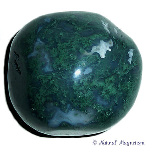 Moss Agate Hand Polished Massage Therapy Stone