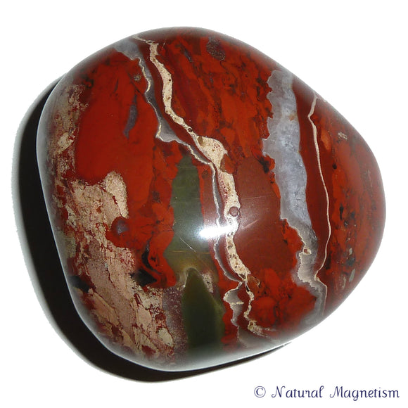 Red Jasper Hand Polished Massage Therapy Stone