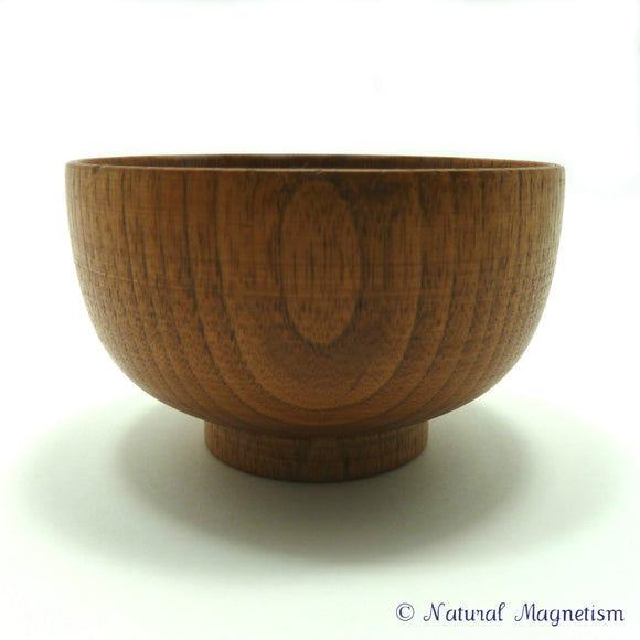 Small Wooden Bowl With Pedestal Front View