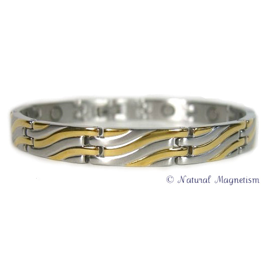 Element Two-Tone Stainless Steel Magnetic Bracelet