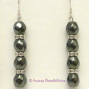 Silver Swarovski Crystal Magnetite Magnetic Earrings | Access Possibilities