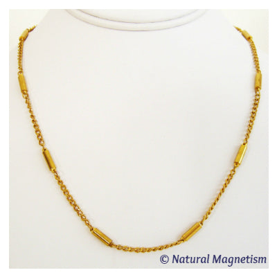 Gold Chain Stainless Steel Magnetic Necklace