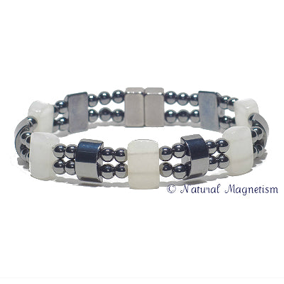 Quartz Double Magnetite Magnetic Anklet