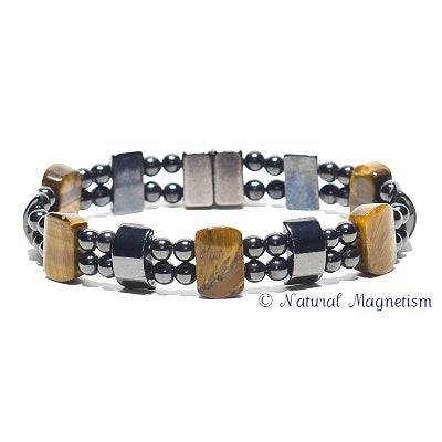 Tiger Eye Double Magnetite Magnetic Anklet