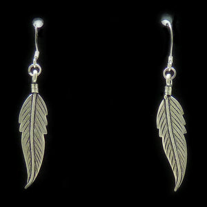 Sterling Silver Feather Earrings | Access Possibilities