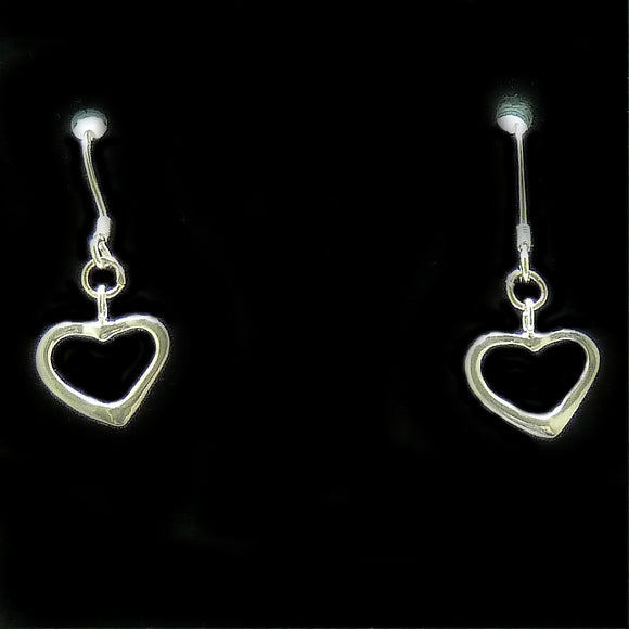 Sterling Silver Lariat Loop Heart Earrings | Access Possibilities